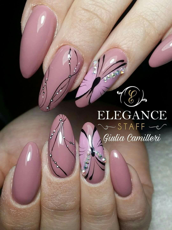 Рисунки На Ногтях Розовым Лаком