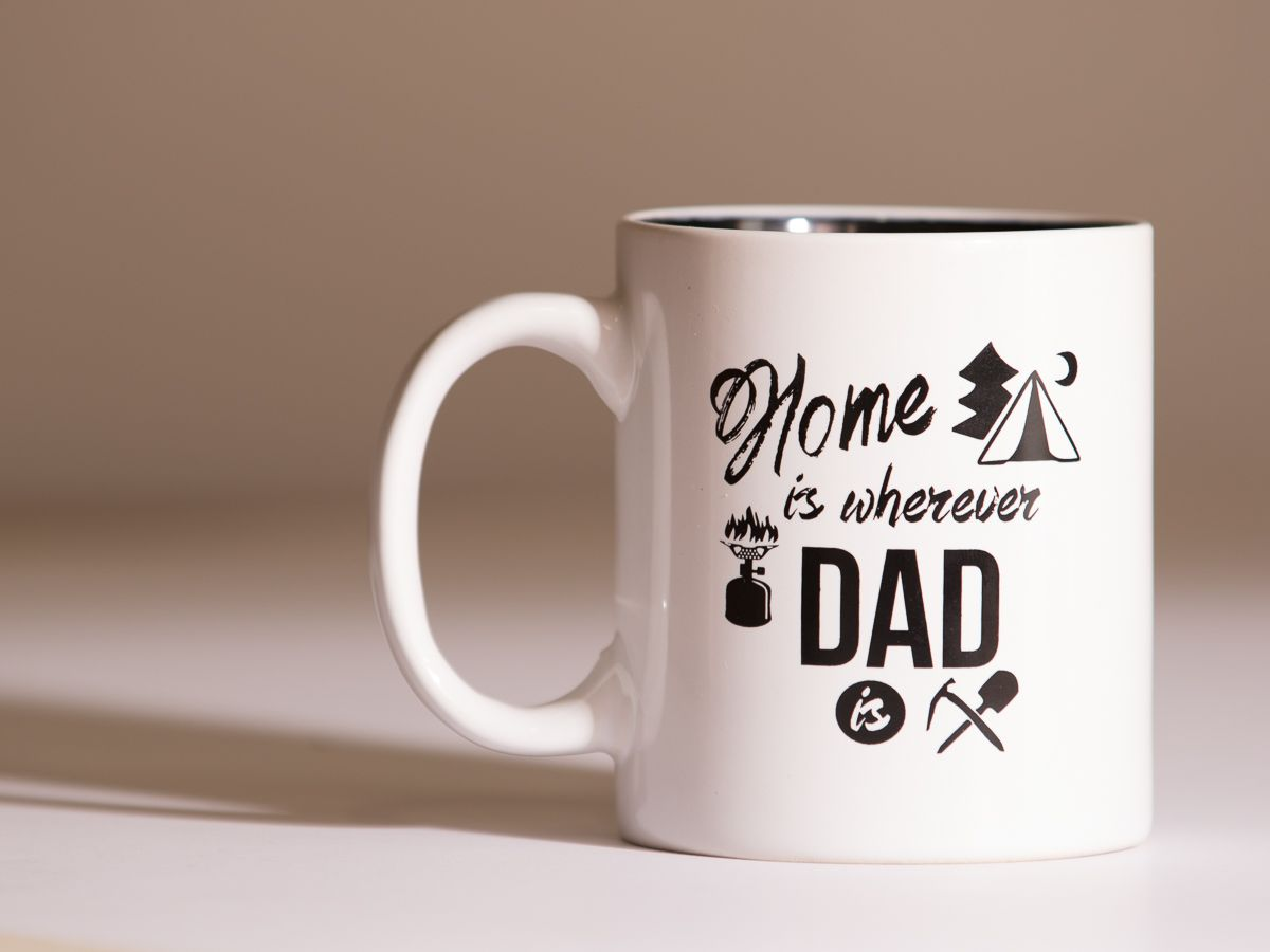 Coffee mugs home is wherever dad is 11oz coffee tea cup