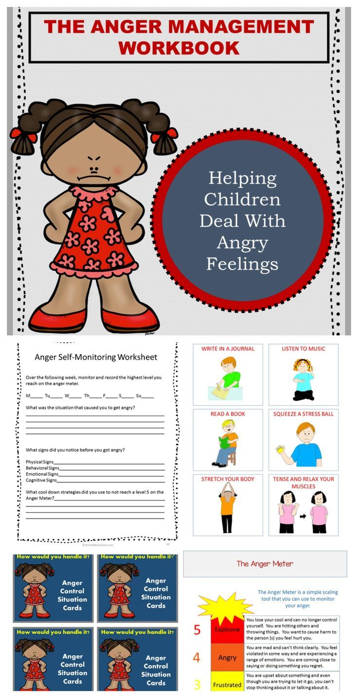 Workbooks anger workbook : Social Emotional Lessons: Helping Kids Manage Their Anger Activity ...