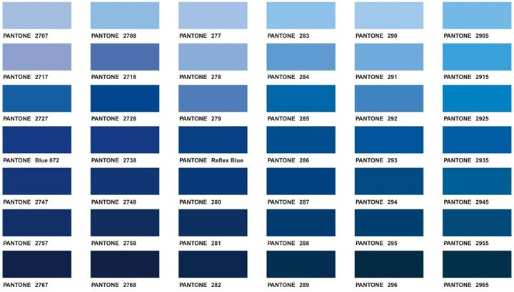 Monday Morning Blues | Pantone, Pantone Color Chart And Colour Chart