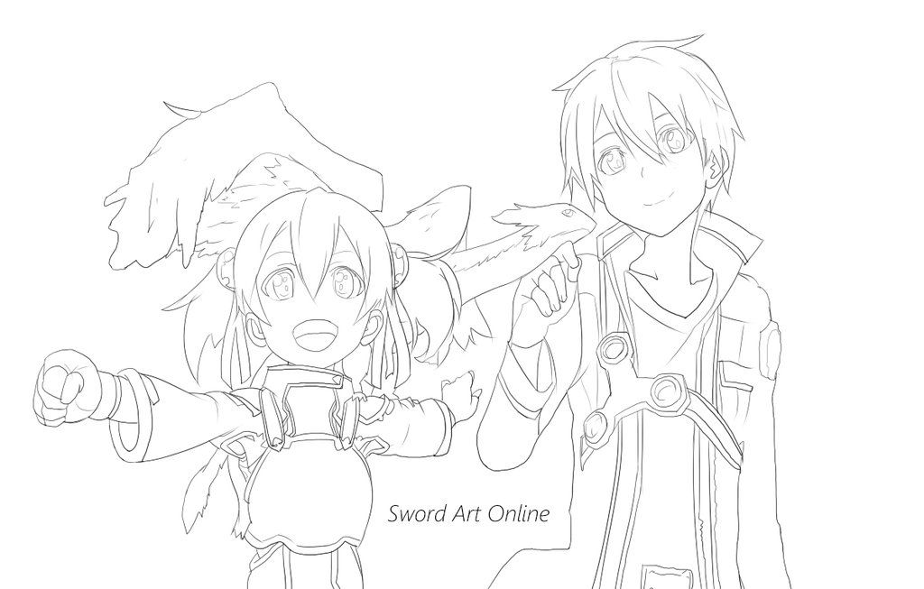 Sword Art Online Colouring In