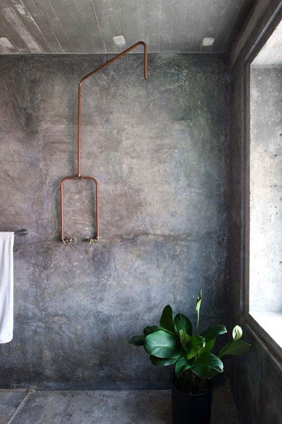 A very cool, industrial bathroom solution! industrialart