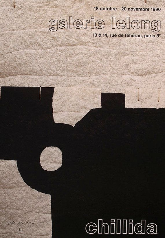 Eduardo Chillida Original Vintage Exhibition Poster 1990 -  Collectible Limited edition