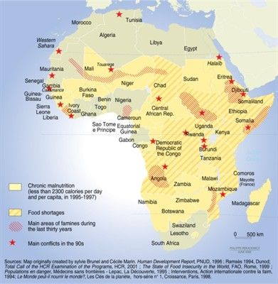 Map of Africau0027s Malnutrition and Famine AP Human Geography Pinterest - copy world map africa continent