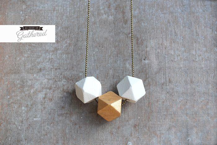 """Geometric """" Minimal Style // geometrische Kette  von picturing auf DaWanda.com"""