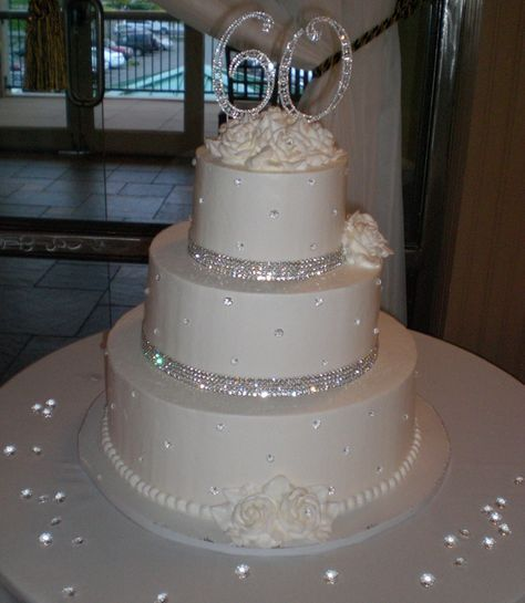 Sparkles In Elegance Buttercream Wedding Cake Take Away