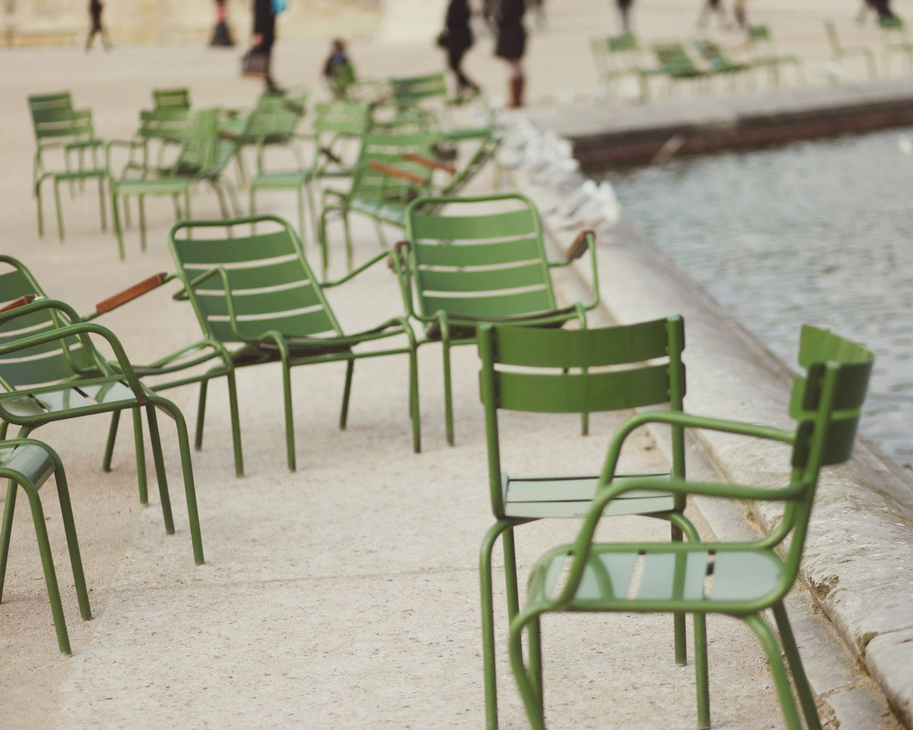 The Tuileries Garden, Jardin des Tuileries, Green Chairs, Seat