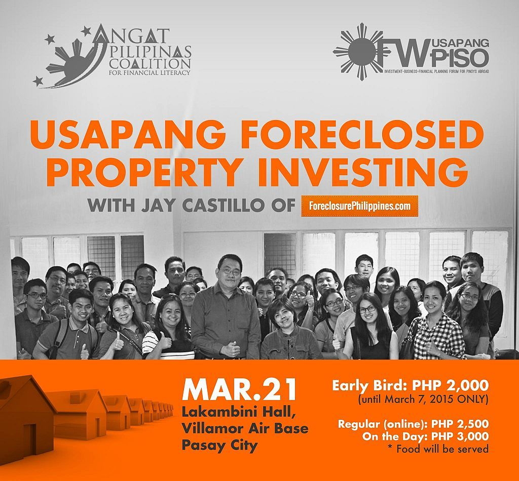 free ticket to the usapang foreclosed property investing