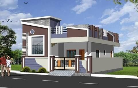 Image Result For Small House With Car Parking Construction Elevation Small House Front Design House Front Design Village House Design