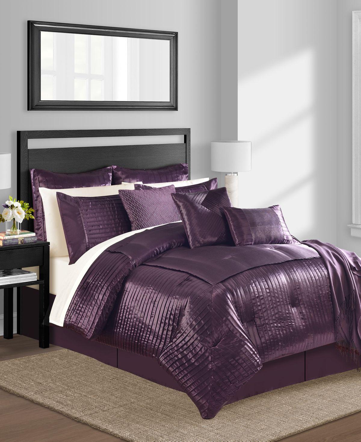 Sunham Dalton 14 Pc California King Comforter Set Reviews Comforter Sets Bed Bath Macy S Comforter Sets King Comforter Sets Plum Comforter Set Purple california king comforter sets