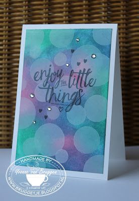 Yvonne is Stampin' & Scrapping: Stampin' Up! Layering Love stampset and bokeh with 3 new In Colors! #stampinup