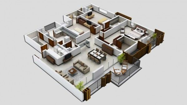 Three Bedroom Home Design New Three Bedrooms Can Be The Height Of Luxury If You Have Enough Inspiration