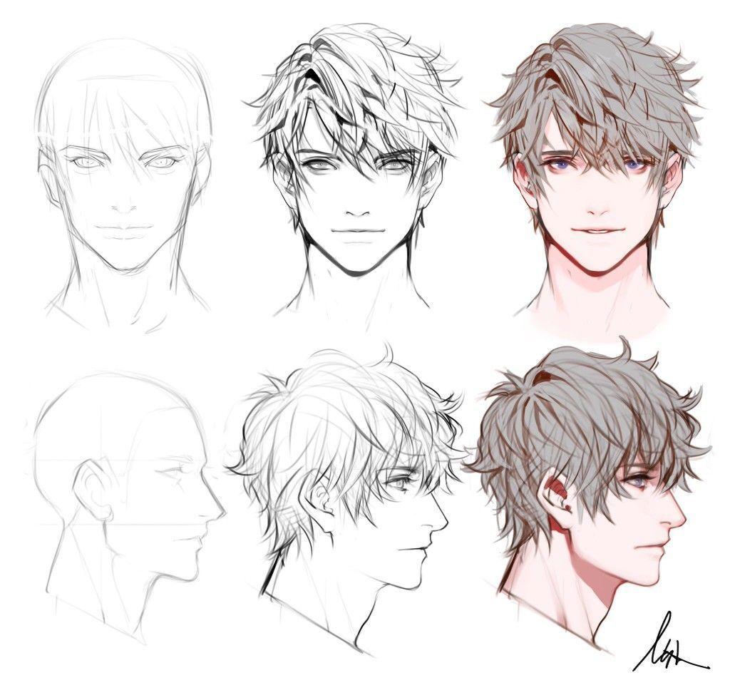 Hair Drawing Male Chibi Hairsalon Haircolour Hairdye In 2020 How To Draw Hair Chibi Hair Anime Boy Hair