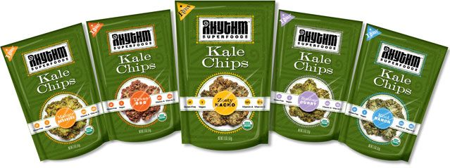 Kale Chips, made by Rhythm Superfoods.  Zesty Nacho ones are amazing!
