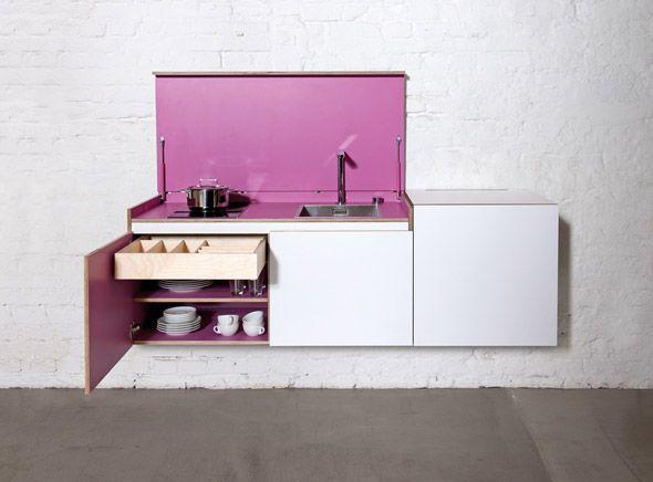 Miniküche miniki | Bucatarie Modulara | Pinterest | versteckte ...