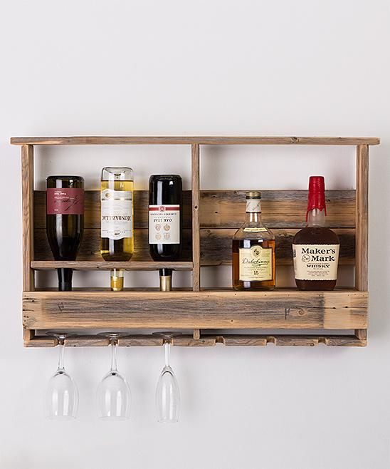 Delhutson Designs Barn Wood Wall Mounted Bar Zulilyfinds Barn Wood Wood Wine Racks Wall Mounted Bar