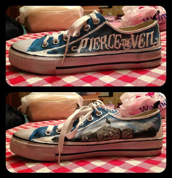 853f3c9532 Women s Pierce the Veil Shoes by RisingRedFox on Etsy