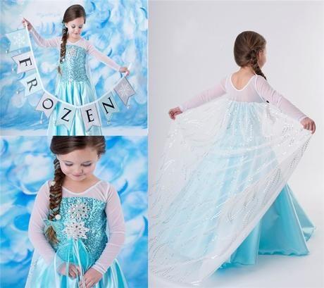 a45b7edf060b Šaty kostým Frozen Ledové království vel.100-140