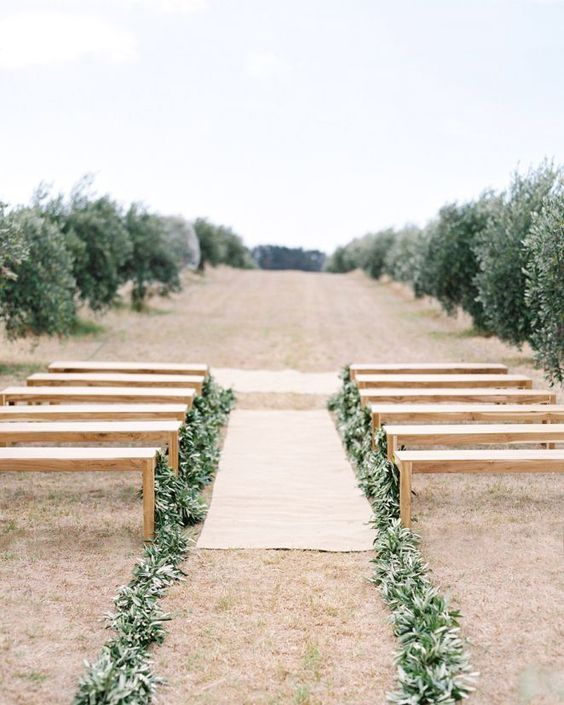Simple Outdoor Wedding Ideas: Greenery-Infused Wedding Ideas