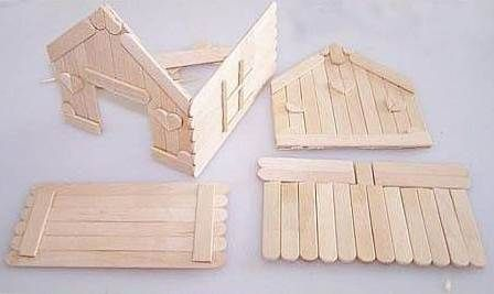 How to DIY Popsicle Stick House #popciclesticks