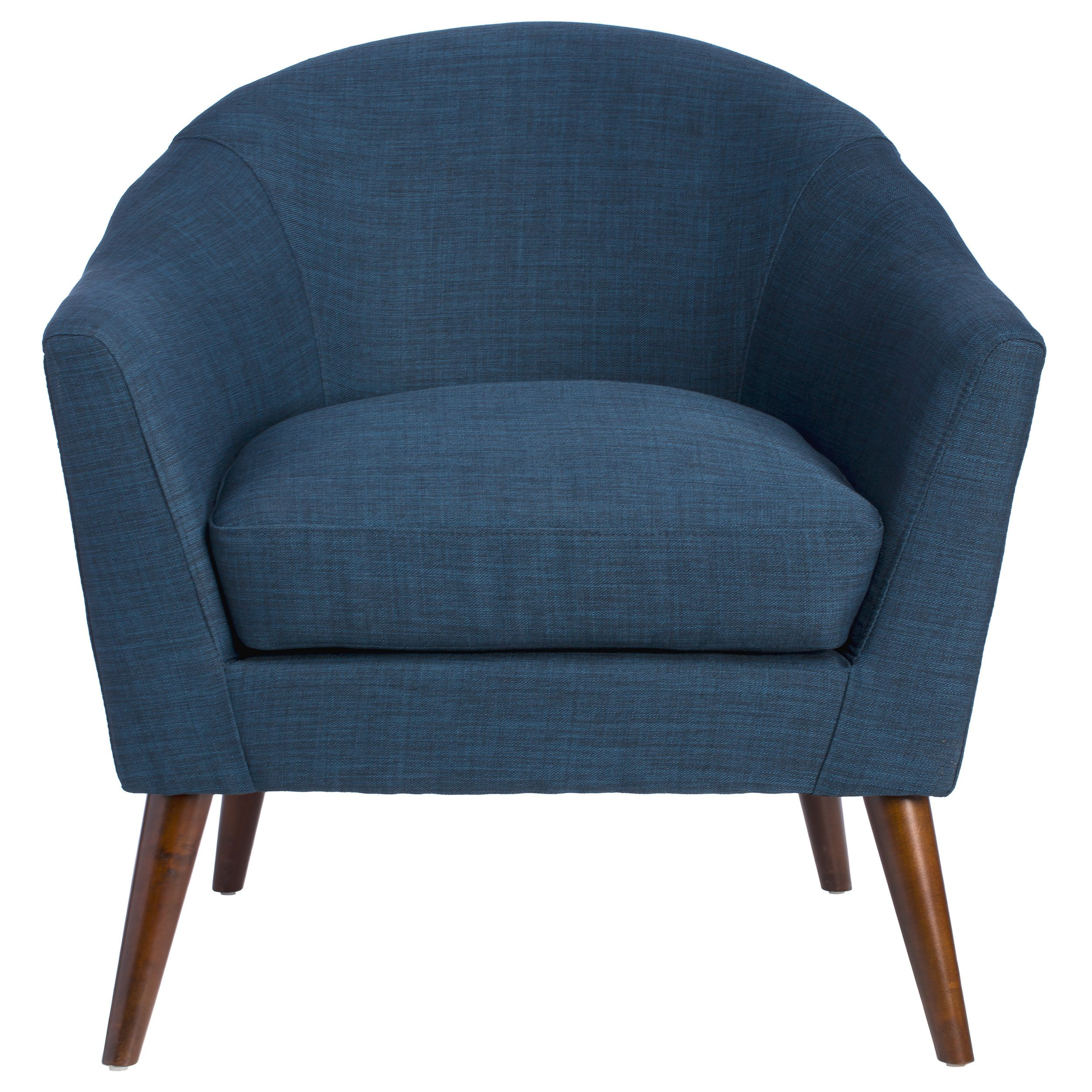 Grayson navy accent chair overstock com shopping the best deals on living room chairs
