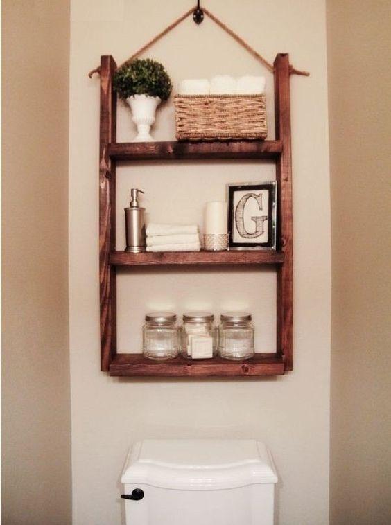 mueble con repisas para baño , jardín, recámara de madera Ideas