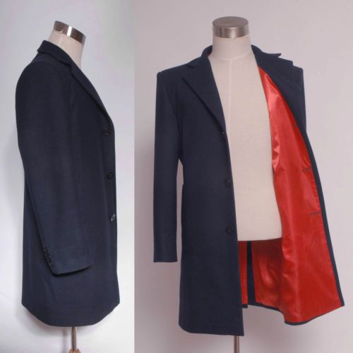 Who Will Get The Coat Twelveth 12th Dr Dark Blue Frock Coat Costume Custom Made Blue Frock Doctor Who Cosplay Doctor Costume