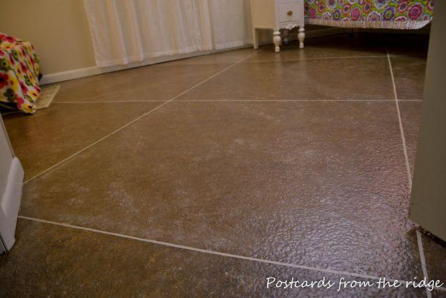 Diy Faux Ceramic Flooring This Is Miraculous The Look Is