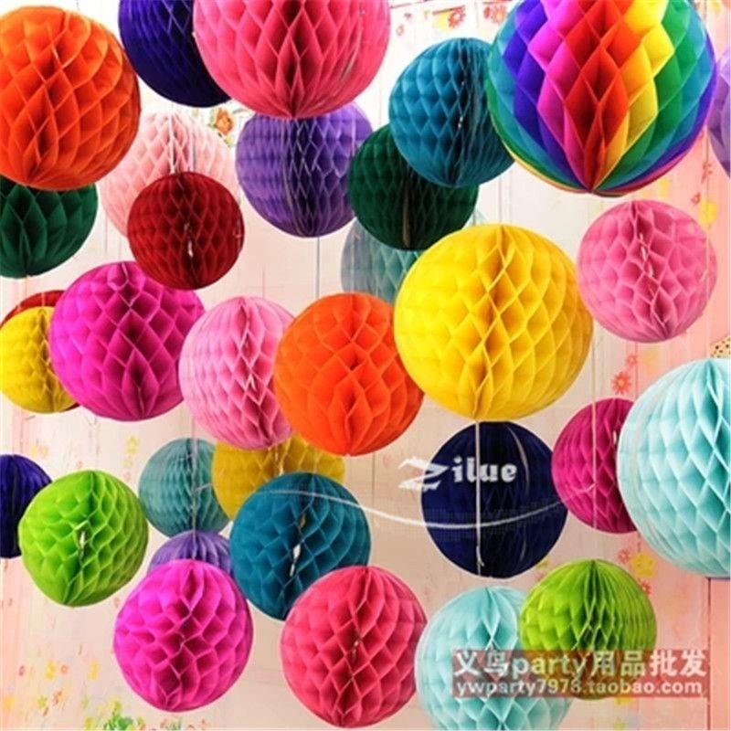 "Honeycomb Ball Decorations Hot 10Pcslot 12"" 30Cm Big Honeycomb Ball Lantern Paper Flowers"