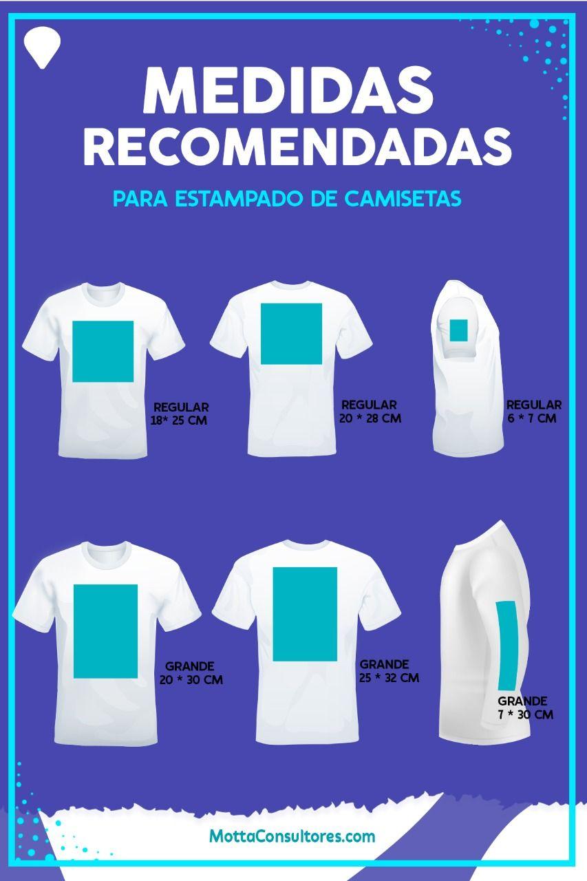 Medidas Recomendadas Para Estampado De Camisetas Camisetas Estampadas Diseños Para Camisetas Ideas De Camiseta