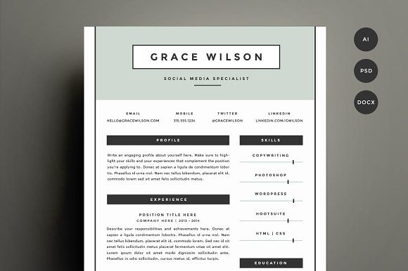Get Refined And Get Noticed With This FourPage Template Design