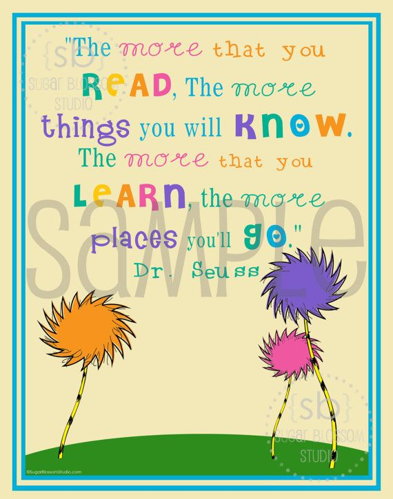 Dr. Seuss-The More That You Read - 11x14 Wall Art - Instant Digital ...