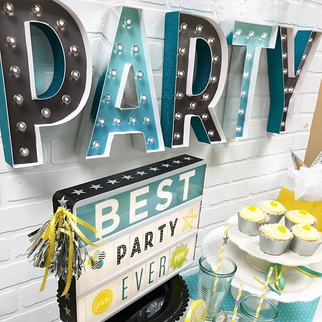 "Welcome to the weekend!!! Bring on the party!  love this set up styled by @natalme --->these 12"" DIY Marquee letters are amaze! And paired up with my customizable #lightbox its   lightbox and letters can be picked up at your local @michaelsstores ⭐️⭐️⭐️ #bestpartyever #memorialday #memorialdayweekend #party #diyparty #diy #make #hscelebration #heidiswapp #hscelebrationinlights #heidiswappatmichaels #mymichaels #madebymichaels #hsmarqueelove #marqueelights #sayitinlights #l..."