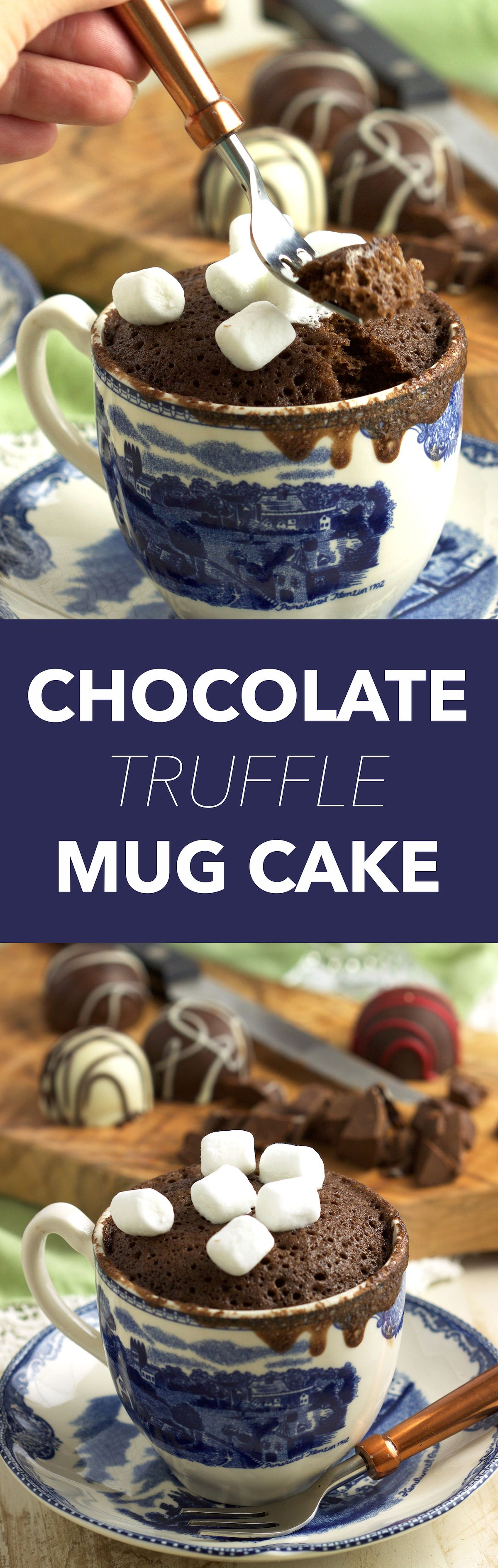 Chocolate Mug Cake Recipe With Creamy Truffles | Easy ...