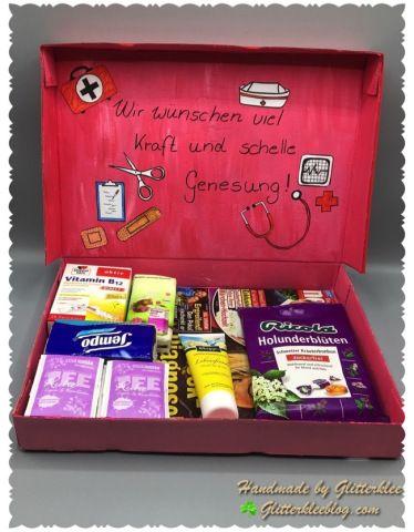 Gute Besserung Box DIY #lustigegeschenke