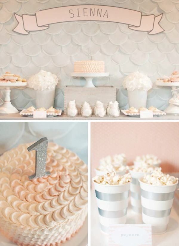 Elegant First Birthday Party Planning via Karas Party Ideas www