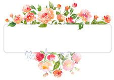 Two Floral Watercolor Banners With Bouquet Of Lavender Peony Illustration Floral Cards Watercolor Peonies