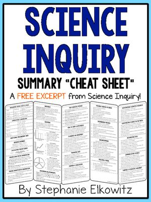 Science Inquiry Cheat Sheet from Stephanie Elkowitz on