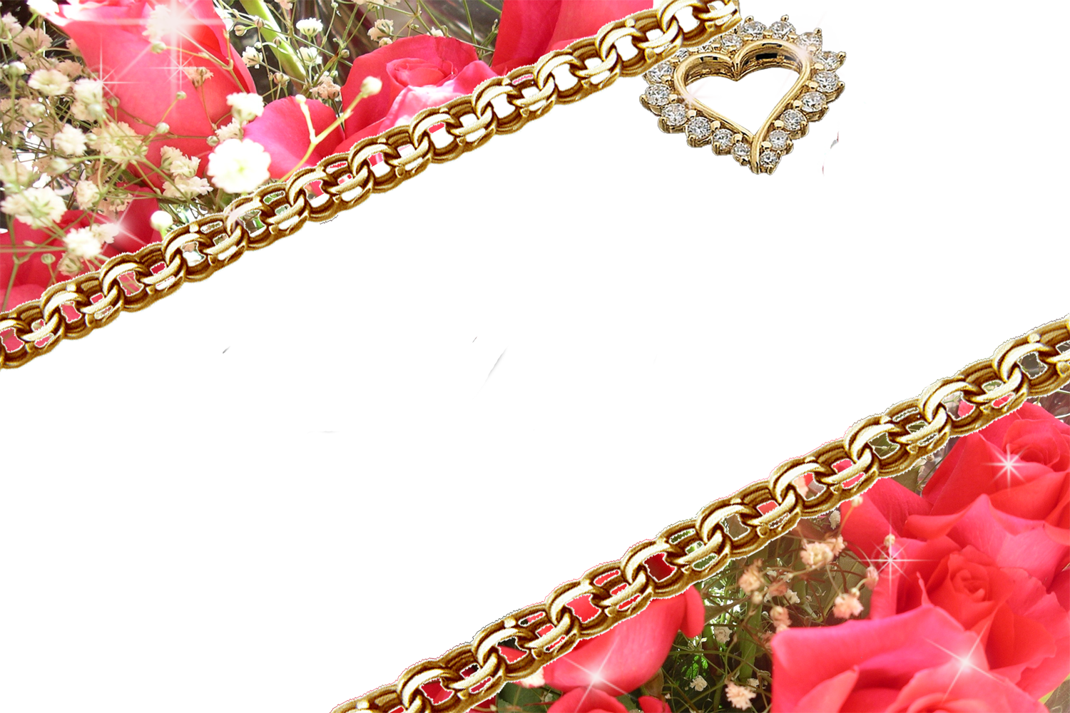 Red Frames Png Frame With Flowers On The Corner