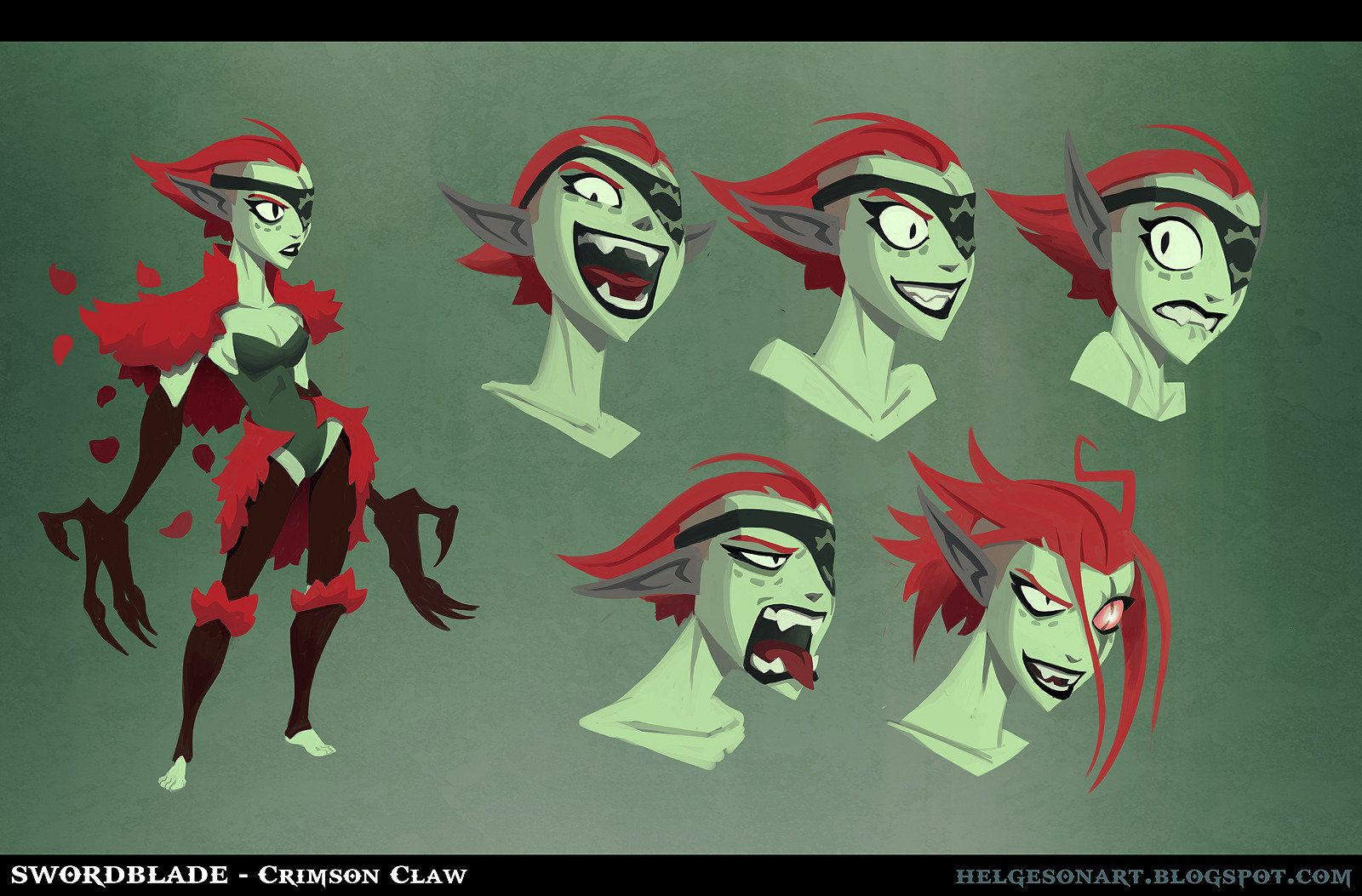 Swordblade - Crimson Claw, Johannes Helgeson on ArtStation at http://www.artstation.com/artwork/swordblade-crimson-claw