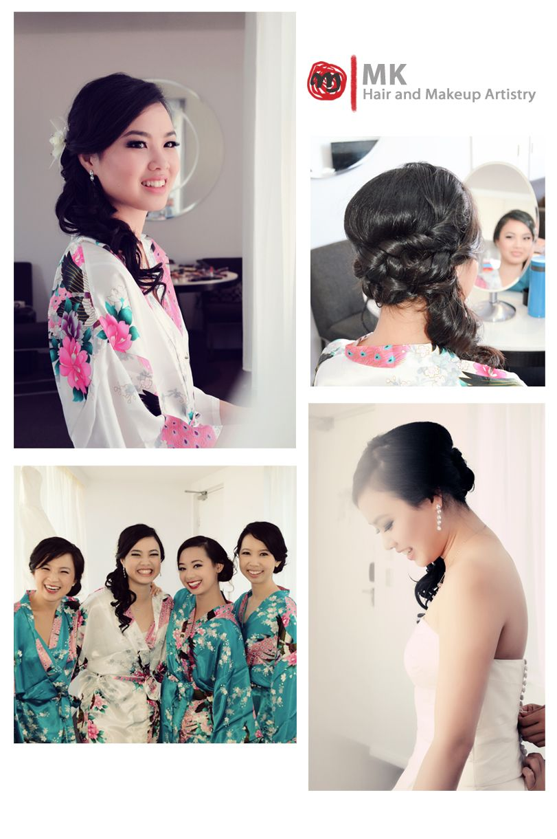 Asian wedding hair and makeup, side down hairstyle. | Hair and ...