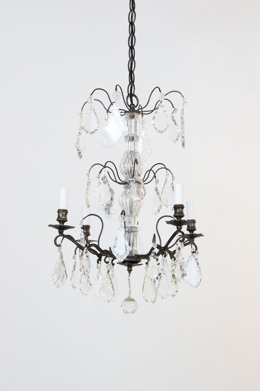 Petite french pronze and crystal chandelier by appleton antique petite french pronze and crystal chandelier by appleton antique lighting arubaitofo Gallery