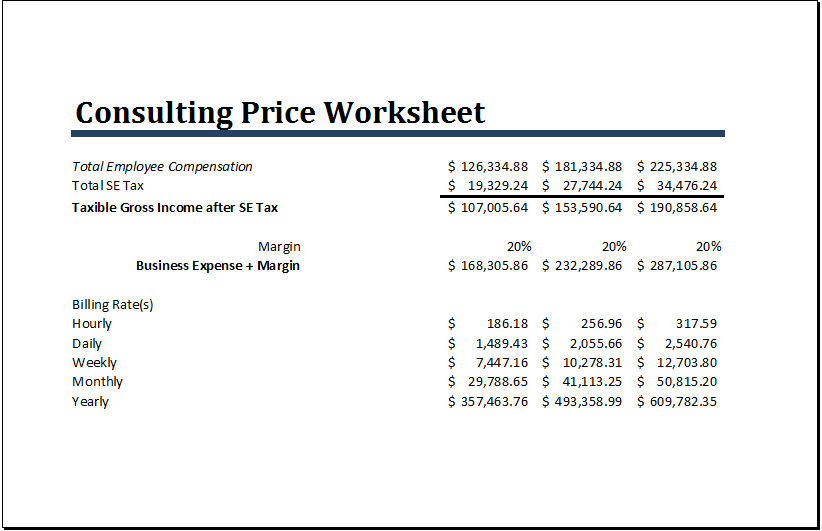 Ms Excel Consulting Price Worksheet Template Everyday Word Excel Templates Worksheet Template Excel Templates Worksheets