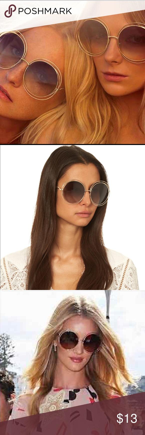 3891203c68ea Chloe INSPIRED Round Sunglasses REPLICA of the Chloe Carlina oversized Round  Sunglasses! BRAND NWT!
