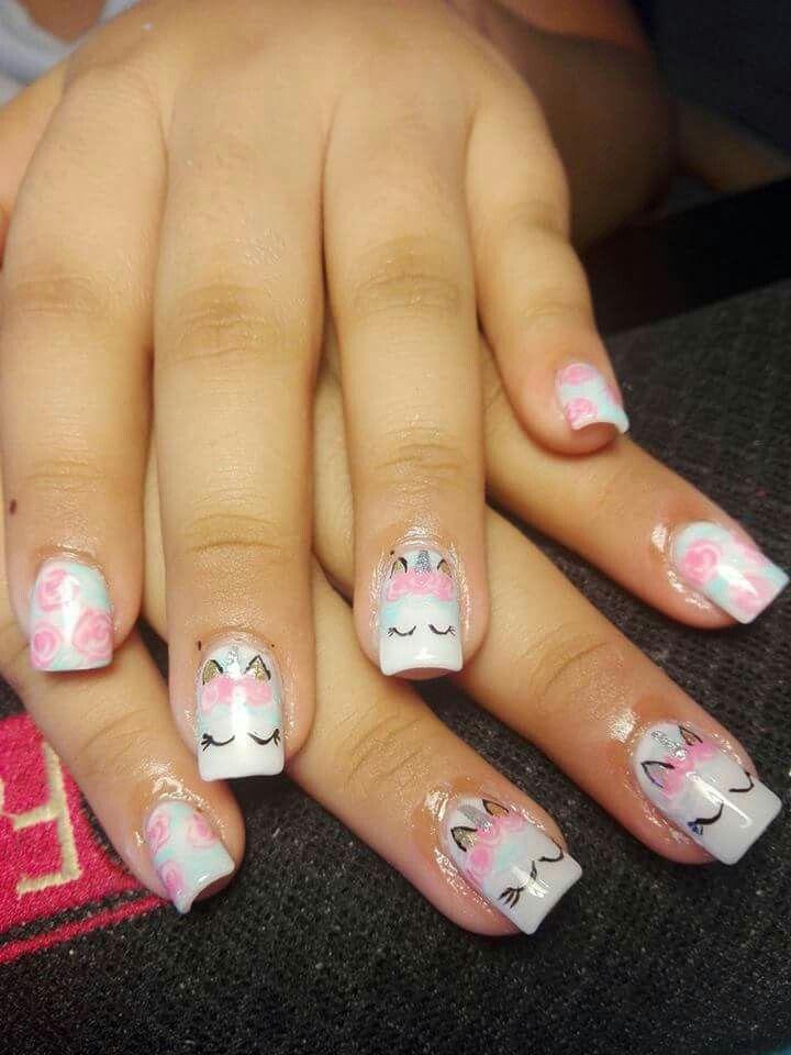 Unicorn Nails Unicorn Inspo Nail Art Nails Nail Art Designs