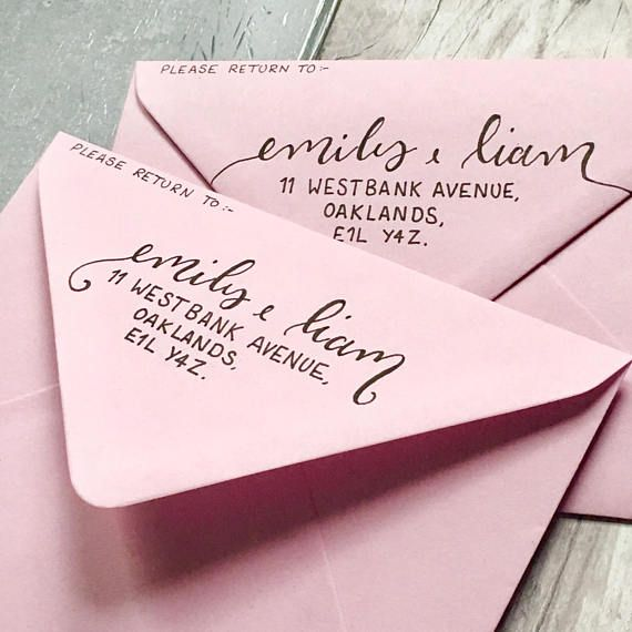 Return Addresses Add On // Modern Calligraphy // Hand