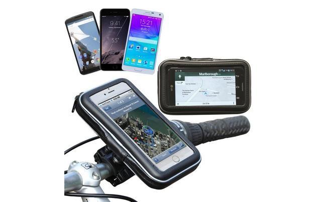 Navitech - Bike & Motorbike Waterproof Mount / Case For 5.5 To 6 Inch Smartphone / Devices