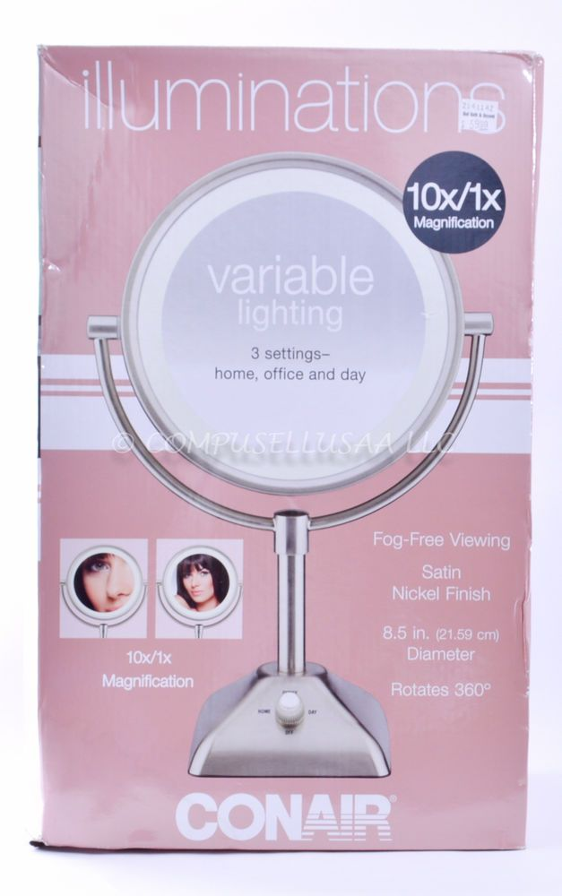 Conair Be104x 10x 1x Variable Lighted Makeup Mirror Conair With