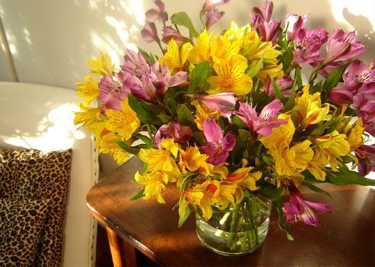 Pieza Central Con Alstroemeria Decoracao Com Flores Arranjos De