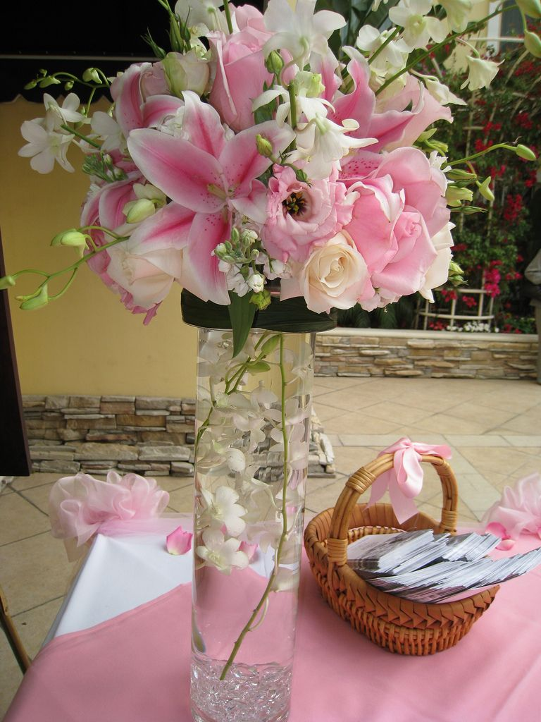 Flower table decorations - Fancy Tall Flower Arrangements Wedding Decorator Blog